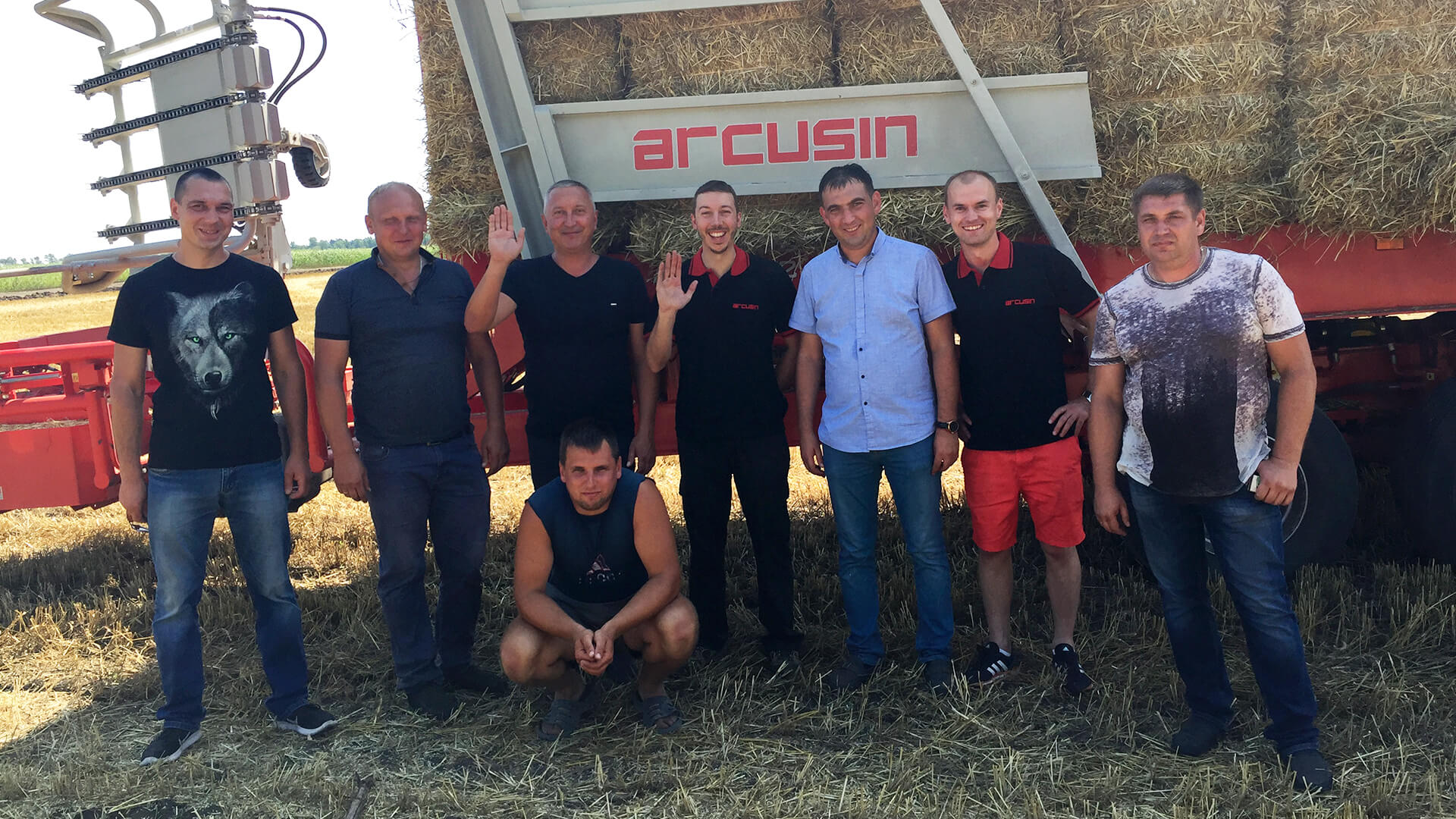 arcusin autostack start up bale chaser remolque pacas